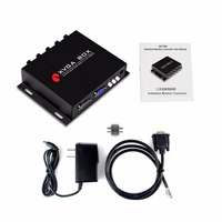 XVGA Box RGB MDA CGA EGA to VGA signal Converter Portable Industrial Monitor Video Converter Compact Black Power Adapter US Plug