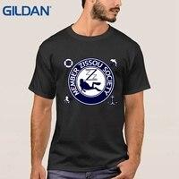 Thú vị ali Phong Cách áo sơ mi ĐỘI ZISSOU JUNIOR THÀNH VIÊN Cuộc Sống Thủy Sinh Wes Anderson đen Hip tee shirt mens áo sơ mi