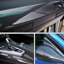 Автомобильный Стайлинг, 152 см x 10 см, глянцевая черная 5D виниловая пленка из углеродного волокна, автомобильная пленка без воздушных пузырей, сделай сам, тюнинг автомобиля, часть, наклейка