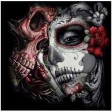 5d rhinestone Diamond Embroidery Sexy Flower Skull Face Women DIY Diamond Painting Cross Stitch Fashion Halloween Decoration art(China)