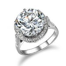 5 Carat Solid 585 Gold Luxury Big Stone  Tempting Certified Moissanite Women Engagement Ring Long Time Last Quality Gold Jewelry