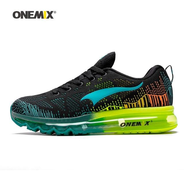 ONEMIX Men Running Shoes Para As Mulheres Malha Malha Almofada de Ar Tênis Esportes Formadores Tênis Ao Ar Livre De Viagem A Pé Calçado De Corrida