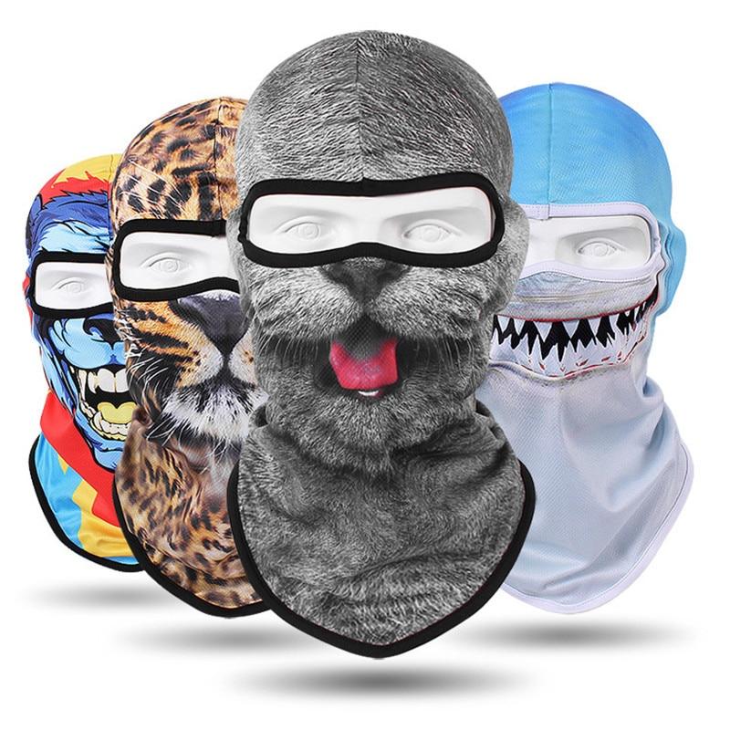Balaclava Motorrad Full Face Maske 3d Tier Katze Hund Hüte Helm Winddicht Atmungsaktiv Airsoft Paintball Snowboard Radfahren Ski Offensichtlicher Effekt