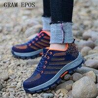 Gram Epos сетки воздуха Сапоги и ботинки для девочек рабочая обувь Обувь Сталь носком Кепки для анти-smash проколов прочный дышащий защитная обувь