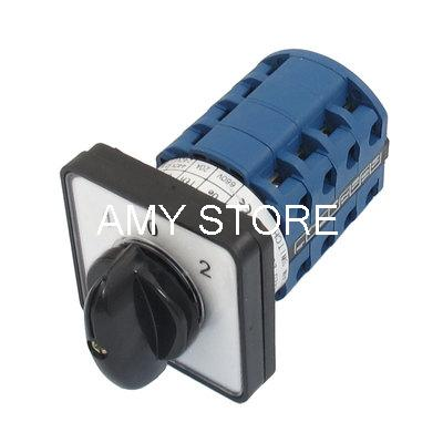 Electric (1-0-2) 3 Position 16 Terminals Rotary Cam Changeover Switch 660V 20A SZW26-20/D404.4 16 660