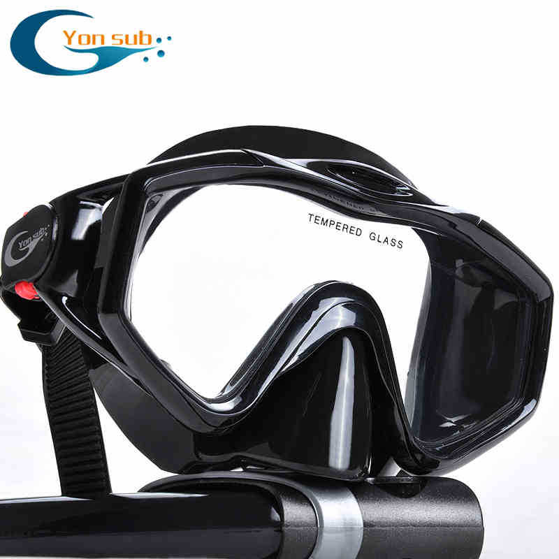 Silicone Kaca Tempered Profesional Scuba Kolam Diving Masker Set - Olahraga air