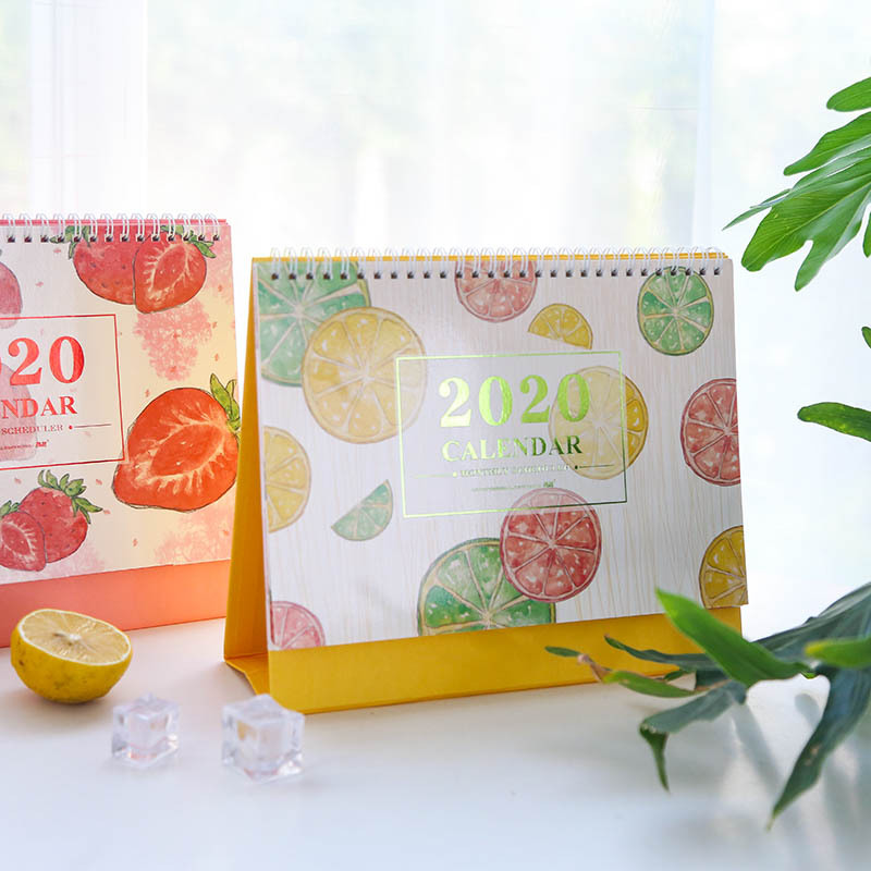 2020 Watermelon Lemon Fresh Fruit Series Calendar DIY Desk Calendar Daily Schedule Planner 2019.07~2020.12