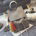 Women Tassel Backpack PU leather School Bags For Teenagers Girls Female Casual Travel Bags Pack Mochilas Feminina BP0082