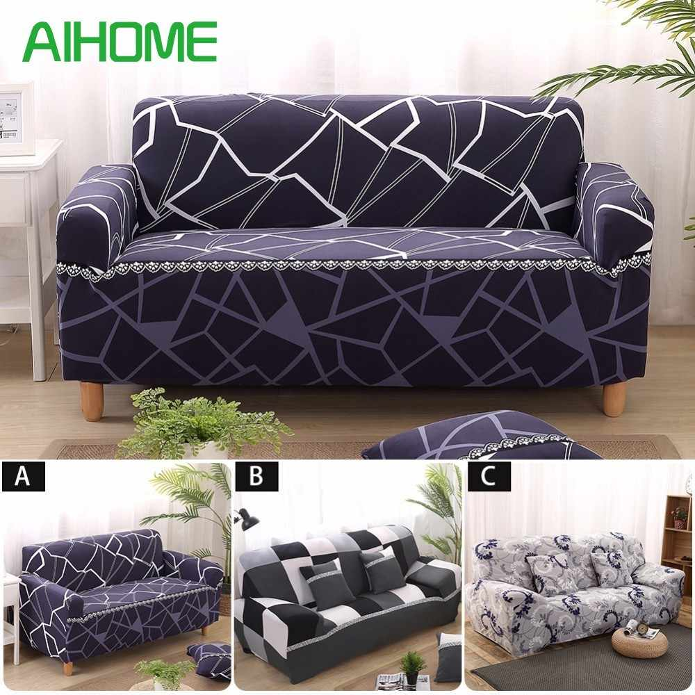 Awesome Print Stretch Sofa Cover Elastic Couch Cover Loveseat Chair Andrewgaddart Wooden Chair Designs For Living Room Andrewgaddartcom
