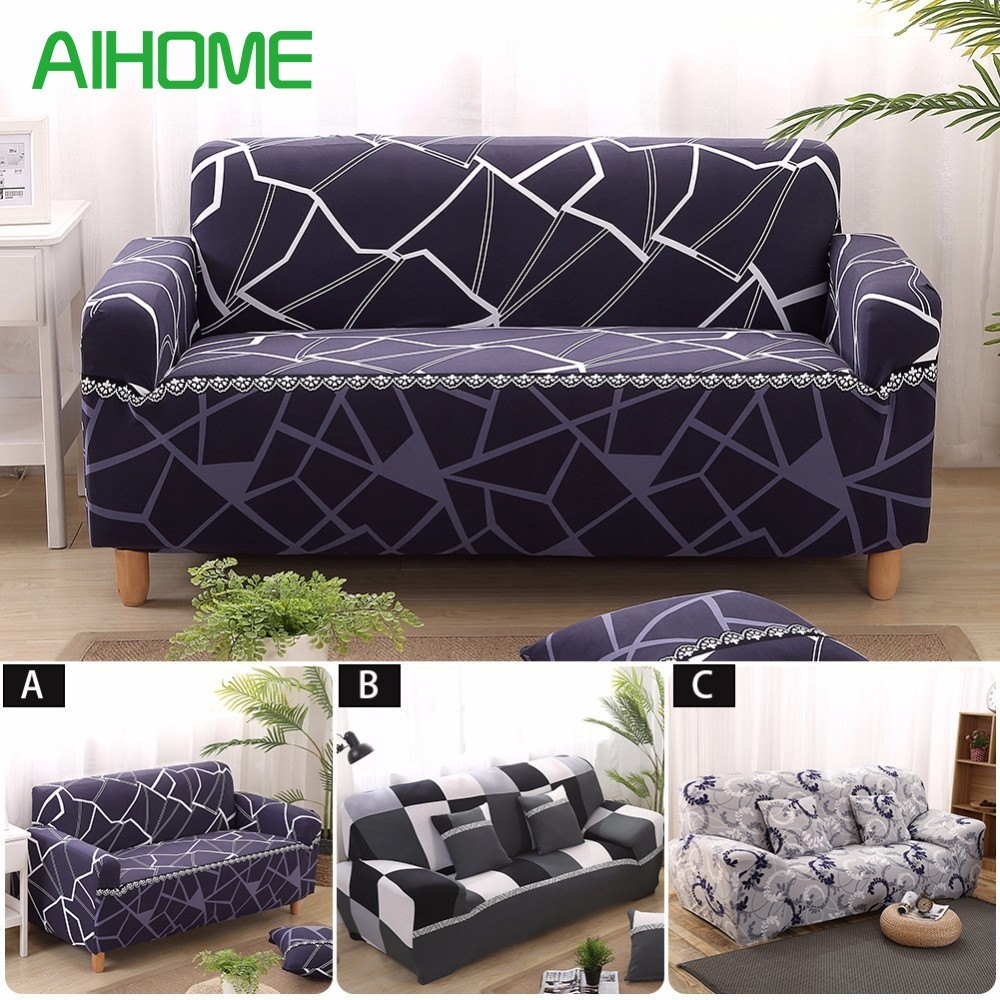 Print Stretch Sofa cover Elastic Couch cover Loveseat Chair L style sofa Case Fully Wrapped Universal Ultimate Sofa Covers