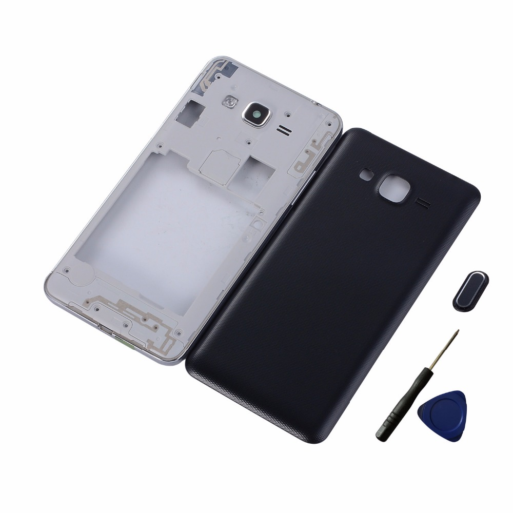 For Samsung Galaxy J2 Prime SM-G532F G532 Housing Middle Frame+Battery Back Door Cover +Home Button Return Key Keypad