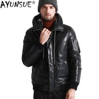 AYUNSUE мужская куртка из натуральной кожи зимнее пальто мужские куртка на гусином пуху мужские s овчина пальто Chaqueta Cuero Hombre 17 H25 # KJ1081