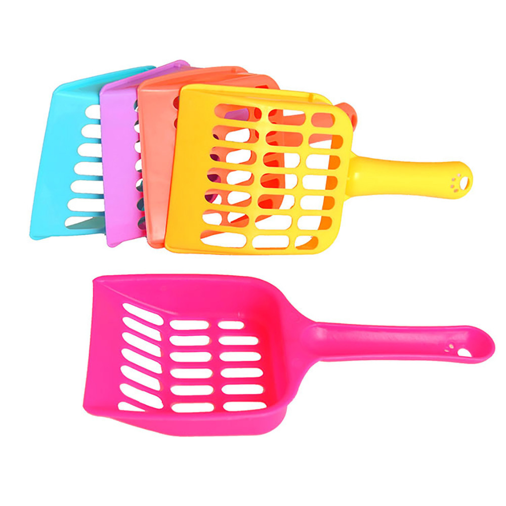 Pet Dog Cat Litter Scoop Plastic Outdoor Cats Kitten  Sand Waste Cleaning Shovels Tool Poop Tray Convenient Supplies Ap21