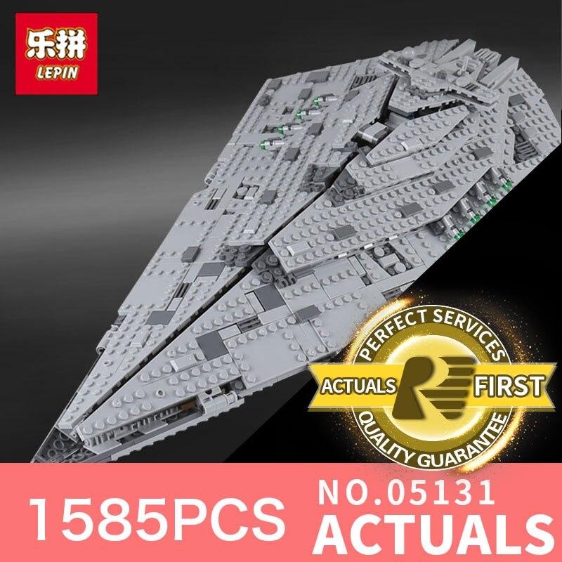 Lepin 05131 1585Pcs Genuine Star Plan Series The First order Star Model Destroyer Set LegoINGlys75190 Building Blocks Bricks Toy конструктор lepin star plan истребитель набу 187 дет 05060