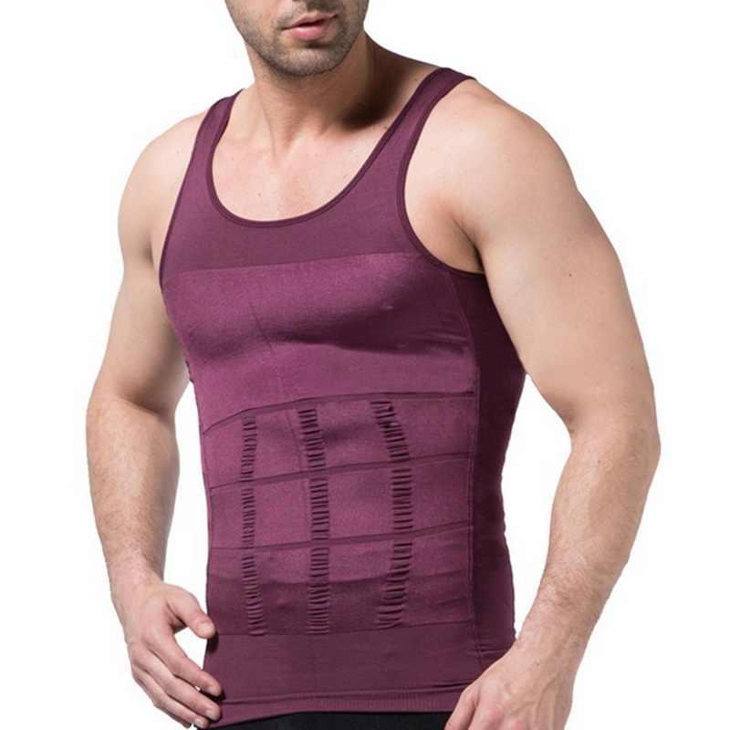 Litthing Erkekler Slim Vücut Shapewear Korse Yelek Gömlek Sıkıştırma Karın Karın Göbek Kontrolü Ince Bel Cincher Iç Çamaşırı Dropship