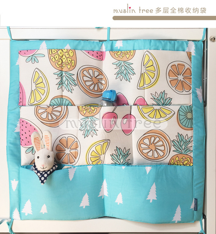 2018 Real Baby Bedding Set Jogo De Cama Special Offer Wholesale Multi-layer Baby Bed Storage Bag Cartoon Multifunctional Diaper