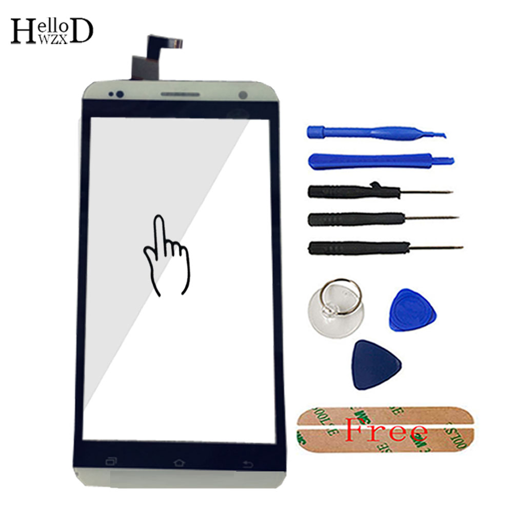 HelloWZXD For Vkworld VK700 Pro Touch Screen Glass Front Glass Digitizer Panel Lens Sensor Flex Cable Tools + Adhesive Gift