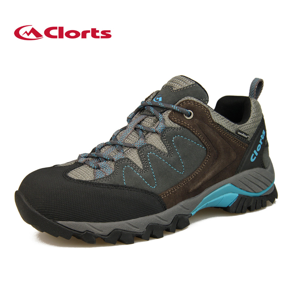 цена на 2017 Clorts Mens Walking Shoes Waterproof Hiking Shoes Breathable Outdoor Shoes Suede Leather For Men Free Shipping HKL-806F/G