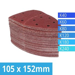 Image 3 - Pack of 120 Hook and Loop Sanding Sheets 105 x 152 mm Grit 20 Each of 40/60/80/120/180/240 Sandpaper for Multi Sander Bosch