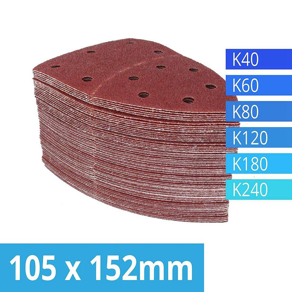 120/pieza de lija con velcro hojas 105/x 152/mm grano 20/x 40//60//80//120//180//240/para multilijadora