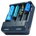 Hot-Selling Opus BT-C1000 Digital 4 Slots LCD Electric Intelligent Charger Compatible With Li-ion NiCd NiMh Batteries-EU/US Plug