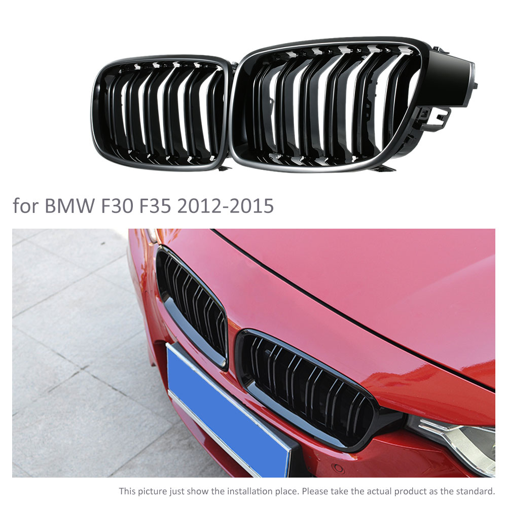 1 Pair Grille for bmw F30 Grill M3 Style F35 Kidney Black Replacement Grille For BMW 3 Series F30 F35 2012-2015 Gloss Black 1 pair gloss black front kidney grilles grill car styling racing grills replacement grilles for bmw f30 f31 f35 320i 2012
