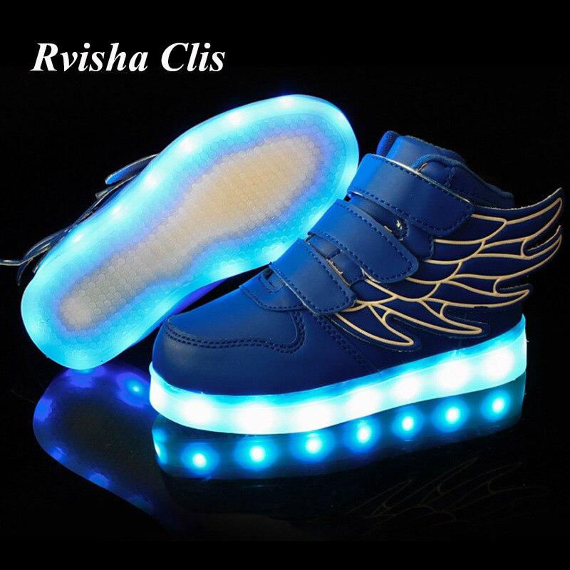 25-37 Größe / USB Aufladungskorb Led Kinder Schuhe mit leuchten Kinder Casual Boys & Girls Luminous Sneakers Filz Stiefel