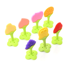 1 Pc Baby Teether Food Grade Infant Chew Tooth Toys Silicone Teether Fruit Shape