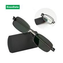Overgang Meekleurende Vouwen Optische Bijziendheid Verziendheid Leesbril + Rx Rx Custom Sterkte Mini Pocket Reader Met Case Fo