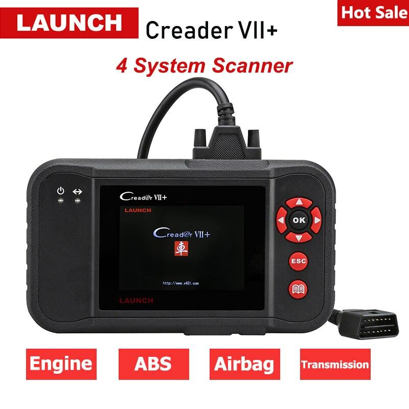 Lançamento Creader VII + Creader X431 7 plus Auto Car Ferramenta de Diagnóstico do Scanner Leitor de Código de ABS SRS OBD2 ENG Frete atualização Creader pk 123