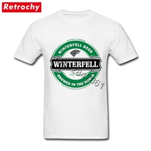 Camiseta de Juego de tronos 20190, camiseta de invierno viene Casa de la camiseta de Stark juventud Fan de la película hombre manga corta marca barata Merch