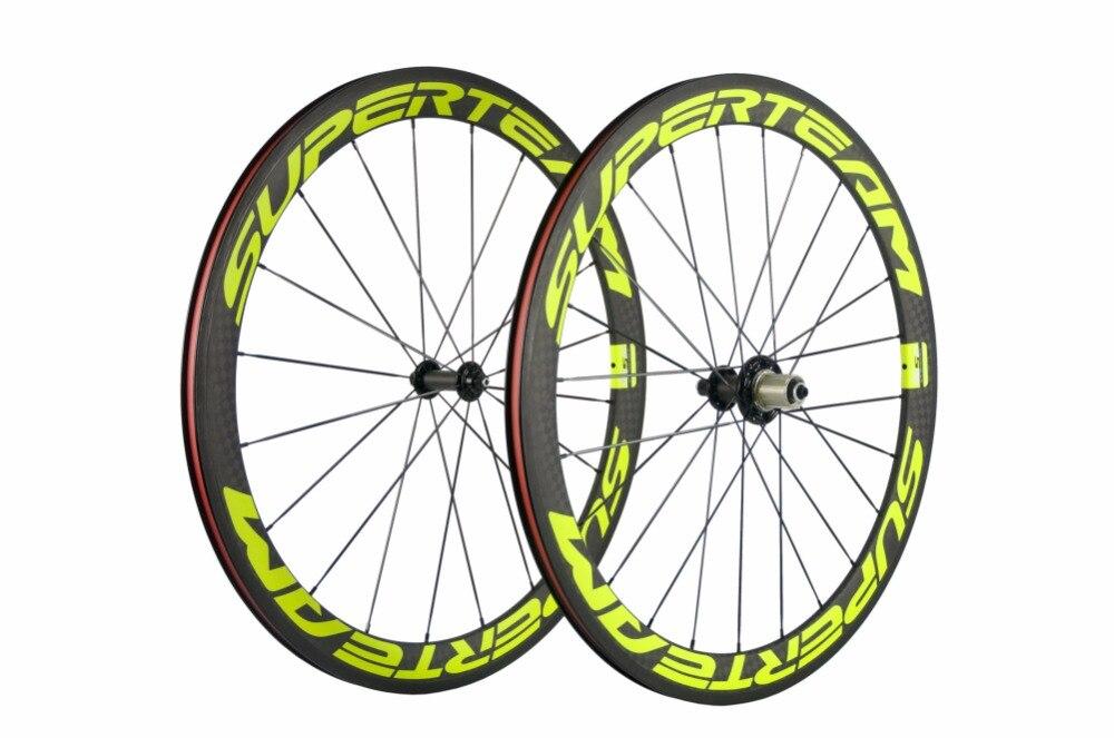Superteam 50mm clincher wheelset 23mm width 12K Matte