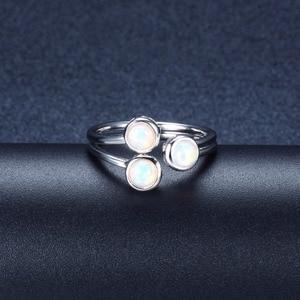 Image 3 - خاتم نسائي من العقيق الطبيعي من هانغ ، خواتم خطوبة مفتوحة من الفضة الإسترليني 925 ، مجوهرات فاخرة من الأحجار الكريمة 3 أحجار بتصميم كلاسيكي