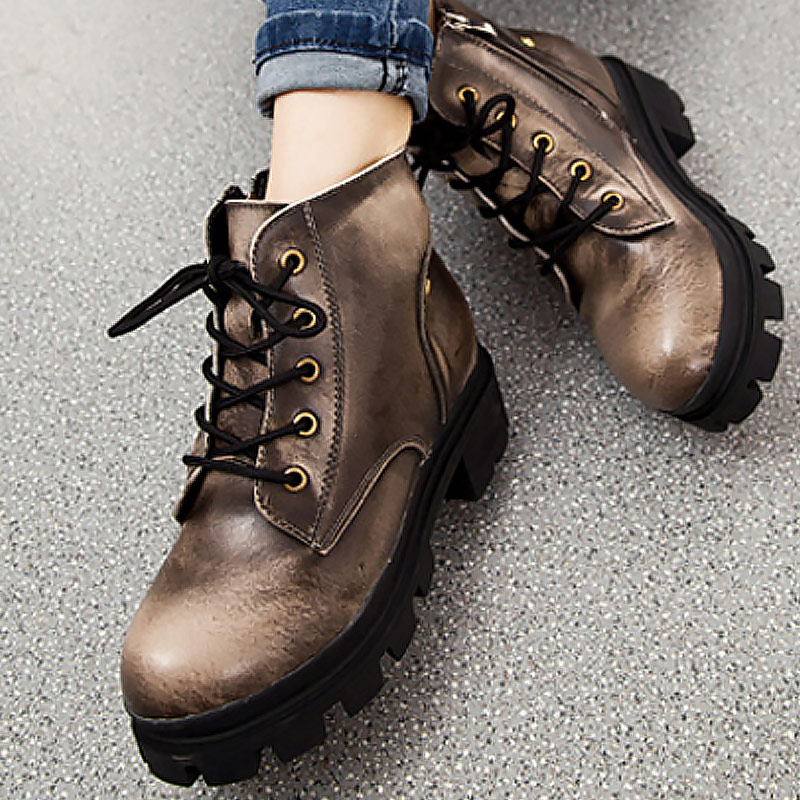 Women's genuine leather shoes plush lace-up fashion motorcycle boots warm ankle boot solid botas femininas de inverno женские блузки и рубашки hi holiday roupas femininas blusa blusas femininas