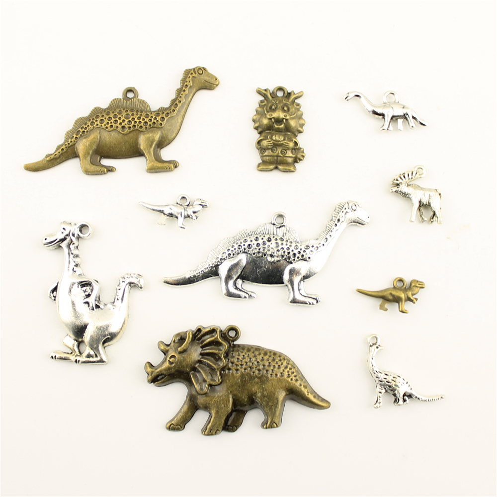 Charms For Jewelry Making Animal Dinosaur Dragon Accessories Parts Creative Handmade Birthday Gifts in Charms from Jewelry Accessories