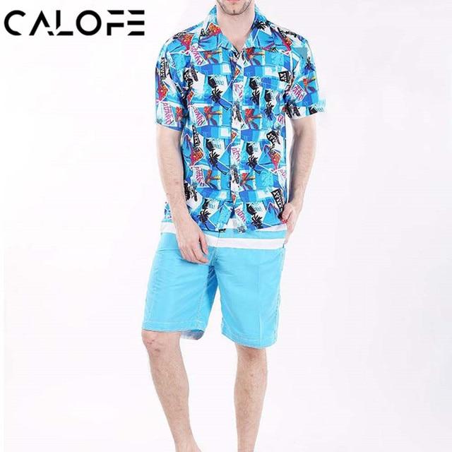 f844f512d211 2018 Men Hawaiian Surfing Beach Shirt Male Loose Printed Swim Board Shirts  Short Sleeve Brand Swimming Clothes Plus Size 4XL 3XL