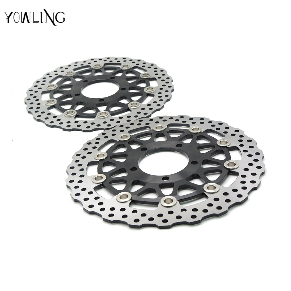 2 psc motorcycle Accessories Front Brake Discs Rotor For KAWASAKI GTR 1400/ABS A8F-A9F,CAF,CBF ZG1400 2007 2008 2009 2010 2011 starpad for lifan motorcycle lf150 10s kpr150 new front brake discs accessories