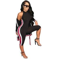 Сексуальная выдалбливают черный из двух частей штаны комплект модные женские туфли бретелек Растениеводство Топ Высокая талия узкие