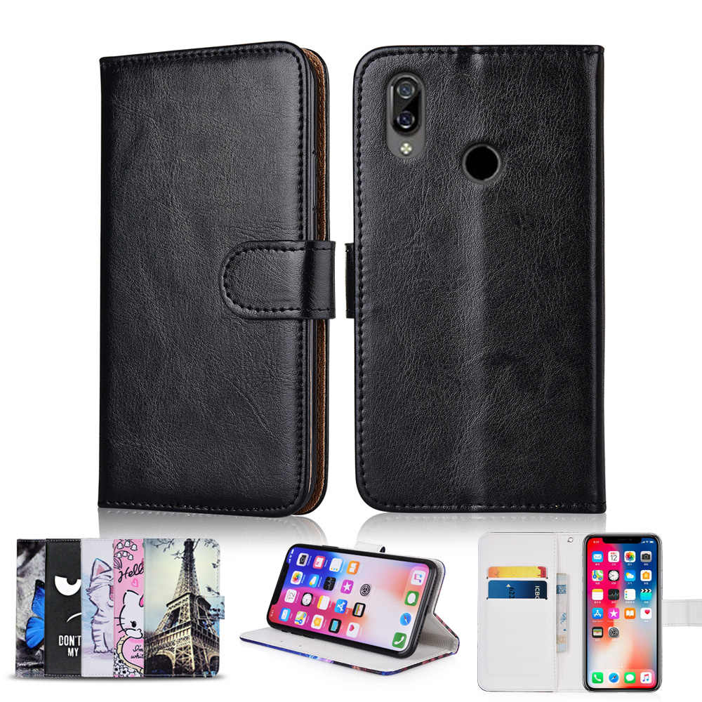 Wallet Case for BQ 6040L Magic Coque With Card Pocket Patterned Cover for BQ 6040L Magic Kickstand Plain Fitted Case