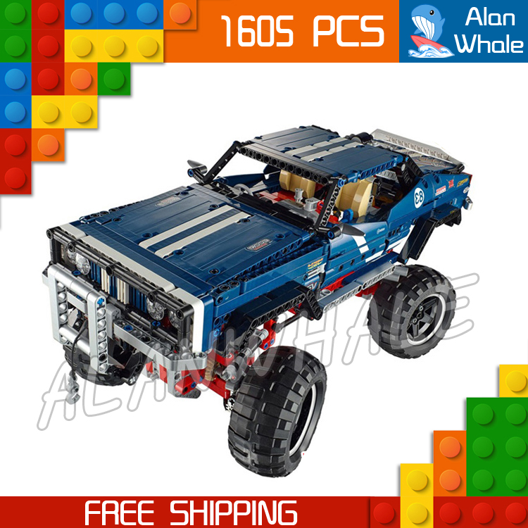 1605pcs Techinic Remote Controlled 4x4 Crawler Exclusive Edition 20011 LED Light Model Building Blocks Toys Compatible With lego 720pcs techinic 2in1 motorized container