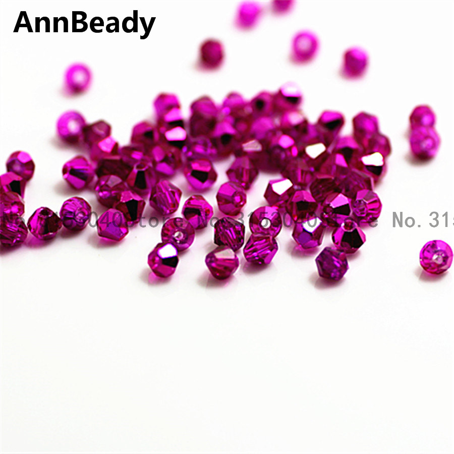 Beads & Jewelry Making 100pcs New Rose Color 4mm Bicone Crystal Beads Glass Beads Loose Spacer Beads Diy Jewelry Making Austria Crystal Beads Cheap Sales Beads