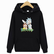 2019 new Rick Morty hoodie mens skateboard cotton hooded sweatshirt and womens pullover