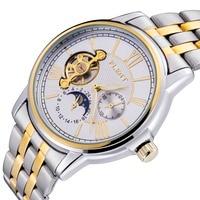 Luxury Brand Uomini Acciaio Pieno Watch, 2016 Automatic Self Winding Orologio, Movimento giapponese Orologio Meccanico In Acciaio Inox