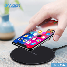 Get more info on the SANGER 10W Qi Fast Wireless Charging Pad for Samsung S9/S8/S8+/S7Edge 7.5W Ultra Thin Wireless Charger for iPhone X/8/8Plus