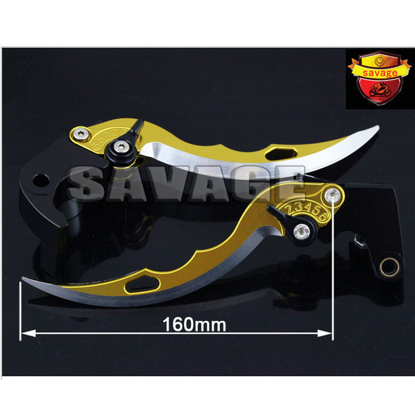 For HONDA CBR600RR CBR1000RR 2008-2015 Golden Knife Blade CNC Aluminum Brake Clutch Levers with logo 9 color cnc brake clutch levers blade for 2000 2001 honda cbr929rr cbr 929 rr