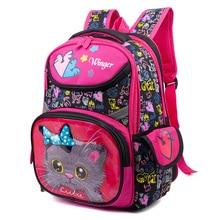2019 Cat Bear Pattern School Bags for Girls Boys Cartoon Backpacks Children Orthopedic Backpack Primary Mochila Infantil Grade 3