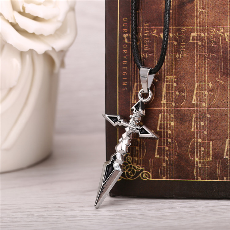 H&F12pcs/lot Hot Anime Fate Zero Silver Metal Necklace crucifix Pendant Cosplay Accessories Jewelry can Drop-shipping YS10494