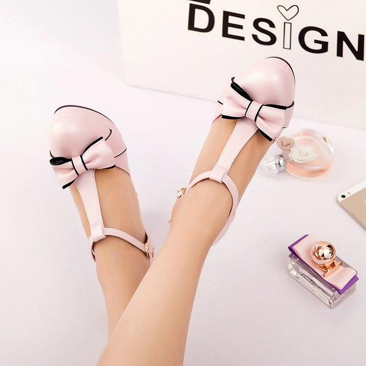 Taille blanc Femmes Plate rose Chaussures Goxpacer Pompes Noeud Saisons Plus Papillon Des forme La Boucle Quatre Casual Minces Rond Profonde Talons Peu Bout Vert PgqxAdFqw