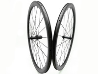 carbon wheels 38mm clincher 700C 3K UD wheel tubeless 23mm bike road wheels 1432 spokes bicycle wheel