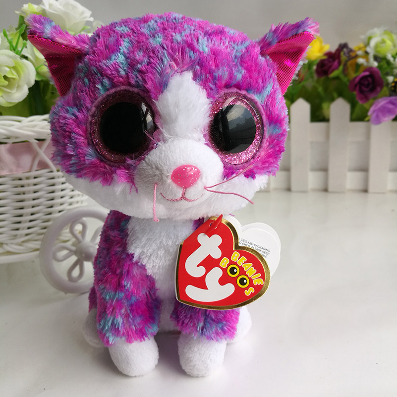 """charlotte cats TY BEANIE BOOS COLLECTION 15CM 6"""" BIG EYE"""